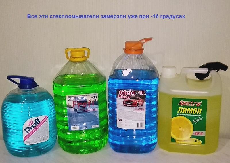 итоги сравнительных испытаний зимних жидкостей