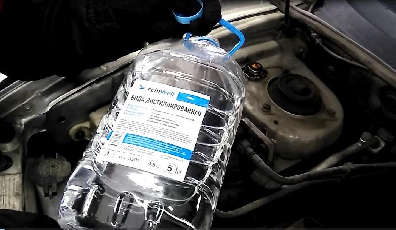 Промывка системы дистиллированной водой