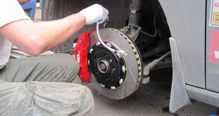 Очистка тормозных дисков от ржавчины